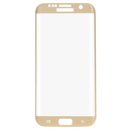 Samsung Galaxy S7 Edge 3D Panzer Glas Folie Display Schutzfolie Hüllen Case Gold
