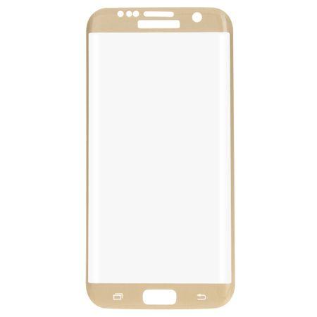 Samsung Galaxy S7 Edge 3D Panzer Glas Folie Display Schutzfolie Hüllen Case Gold