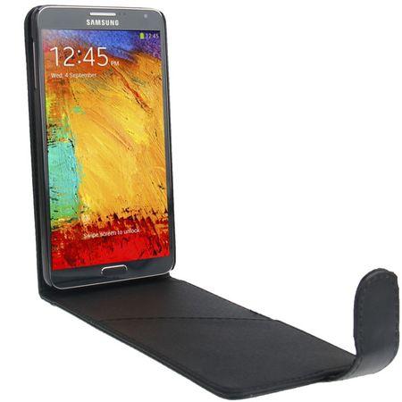 Handyhülle Flip mit Kreditkartenschlitz für Samsung Galaxy Note 3 N9000 Schwarz – Bild 2