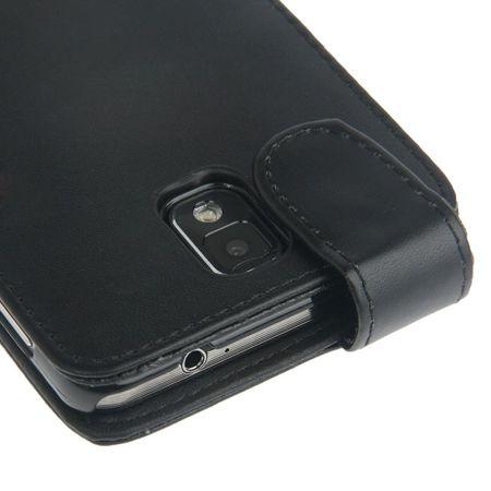 Handyhülle Flip mit Kreditkartenschlitz für Samsung Galaxy Note 3 N9000 Schwarz – Bild 3