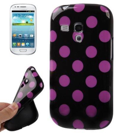 Schutzhülle für Handy Samsung Galaxy S3 mini i8190 / i8195 / i8200 schwarz/pink
