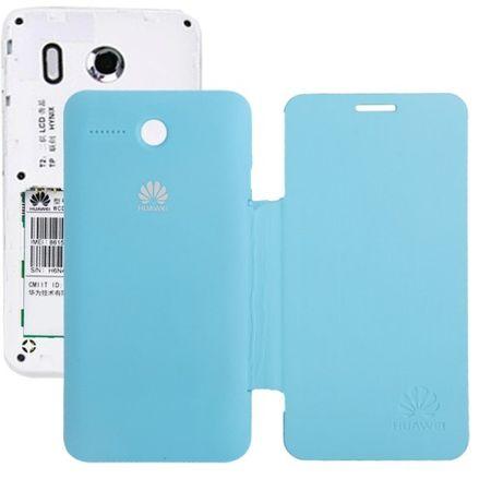 Handyhülle Flip Quer für Handy Huawei Ascend Y320 hellblau