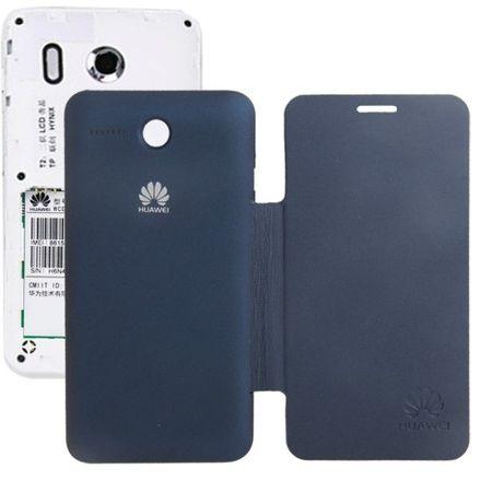 Handyhülle Flip Quer für Handy Huawei Ascend Y320 dunkelblau