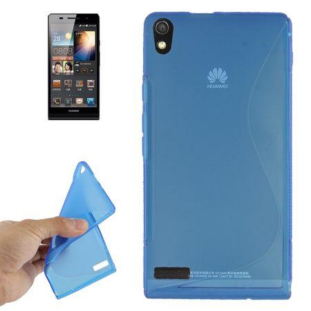 Handyhülle TPU-Schutzhülle für Huawei Ascend P6 blau – Bild 1
