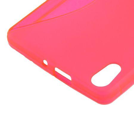 Handyhülle TPU-Schutzhülle für Huawei Ascend P6 pink – Bild 3