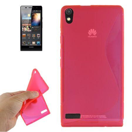 Handyhülle TPU-Schutzhülle für Huawei Ascend P6 pink