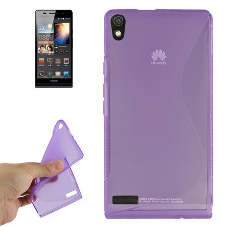 Handyhülle TPU-Schutzhülle für Huawei Ascend P6 lila – Bild 1