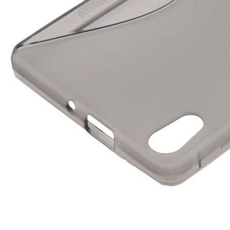 Handyhülle TPU-Schutzhülle für Huawei Ascend P6 grau – Bild 3