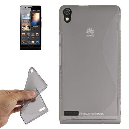 Handyhülle TPU-Schutzhülle für Huawei Ascend P6 grau