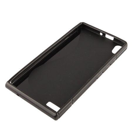 Handyhülle TPU-Schutzhülle für Huawei Ascend P6 schwarz – Bild 2