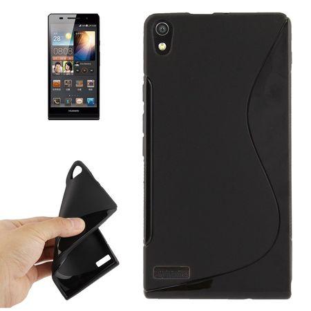 Handyhülle TPU-Schutzhülle für Huawei Ascend P6 schwarz – Bild 1