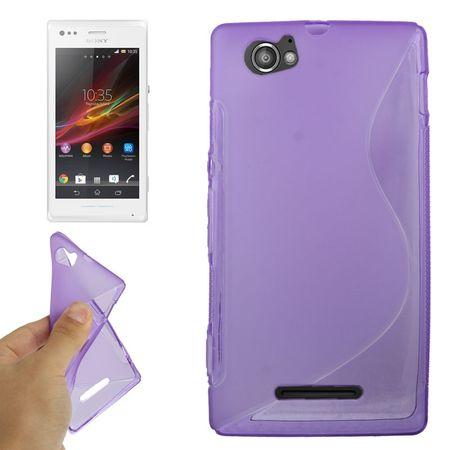 Handyhülle TPU-Schutzhülle für Sony Xperia M C1904 C1905 lila