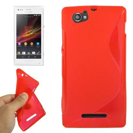 Handyhülle TPU-Schutzhülle für Sony Xperia M C1904 C1905 rot