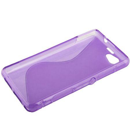 Handyhülle TPU Case für Sony Xperia Z1S / Z1 mini lila – Bild 2