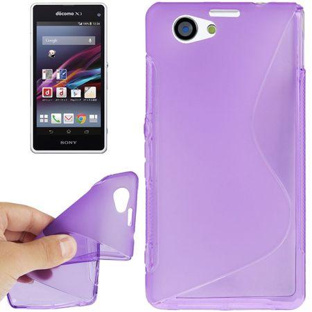 Handyhülle TPU Case für Sony Xperia Z1S / Z1 mini lila – Bild 1