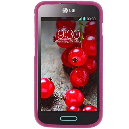 Schutzhülle TPU Punkte Case für Handy LG Optimus L5 II / E455 – Bild 2