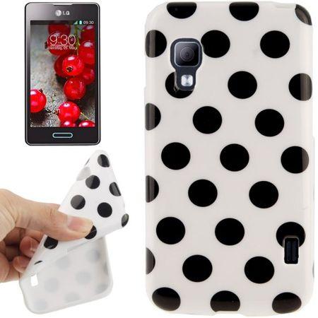 Schutzhülle TPU Punkte Case für Handy LG Optimus L5 II / E455 – Bild 1
