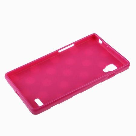 Schutzhülle TPU Punkte Case für Handy LG Optimus L9 / P760 pink – Bild 4