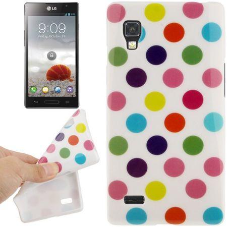 Schutzhülle TPU Punkte Case für Handy LG Optimus L9 / P760