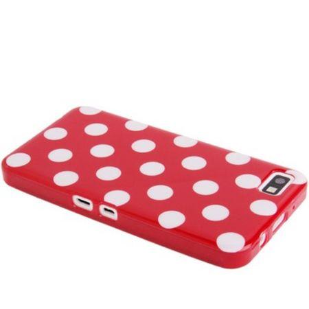 Schutzhülle TPU Punkte Case für Handy Blackberry Z10 rot – Bild 2