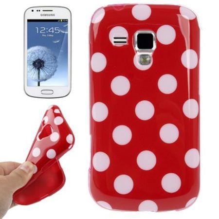 Schutzhülle TPU Punkte Case für Handy Samsung Galaxy S Duos S7562