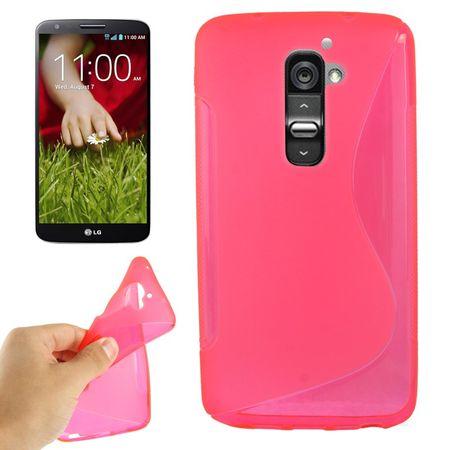 Handyhülle Schutz TPU für Handy LG Optimus G2 pink