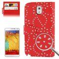 Handyhülle Handyhülle Quer für Handy Samsung Galaxy Note3 N9000 rot 001