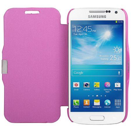 Handyhülle Tasche für Samsung Galaxy S4 mini i9190 pink gebürstet – Bild 3