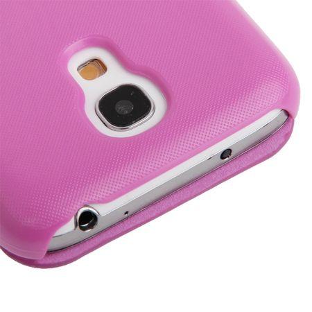 Handyhülle Tasche für Samsung Galaxy S4 mini i9190 pink gebürstet – Bild 6