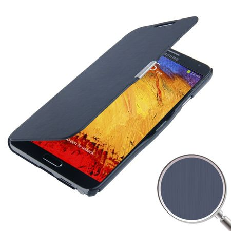 Handyhülle Tasche für Samsung Galaxy Note 3 N9000 dunkelblau gebürstet