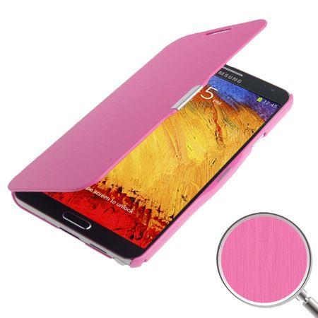 Handyhülle Tasche für Samsung Galaxy Note 3 N9000 pink gebürstet – Bild 1