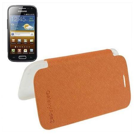 Handyhülle Flip Quer für Handy Samsung Galaxy Ace 2 i8160 orange