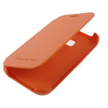 Handyhülle Flip Case für Samsung Galaxy Ace Duos S6802 orange