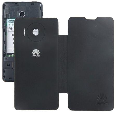 Handyhülle Flip Quer für Handy Huawei Ascend Y300 schwarz