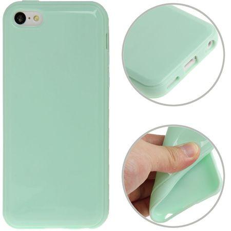 Schutzhülle TPU für Handy Apple iPhone 5C hellgrün