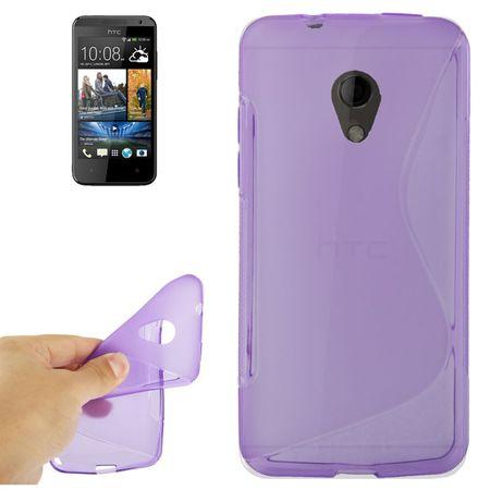 Handyhülle TPU-Schutzhülle für HTC Desire 700 lila