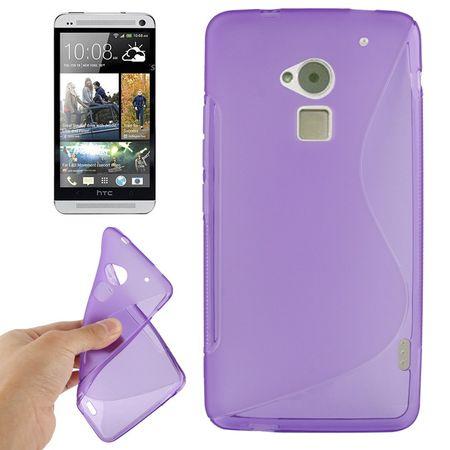 Handyhülle TPU-Schutzhülle für HTC One Max / T6 lila