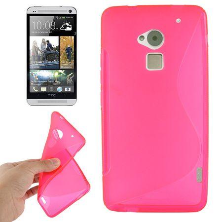 Handyhülle TPU-Schutzhülle für HTC One Max / T6 pink