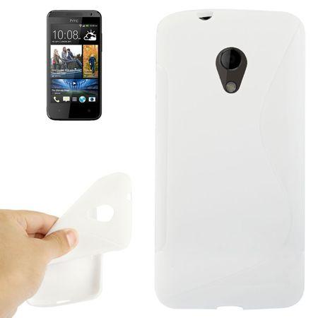 Handyhülle TPU-Schutzhülle für Handy HTC Desire 700 weiß