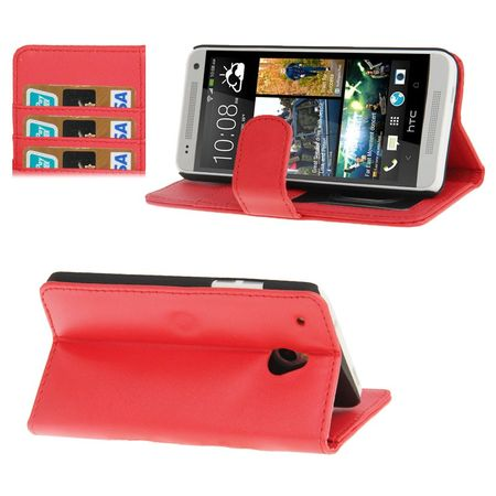Handyhülle Case für Handy HTC One mini M4 rot