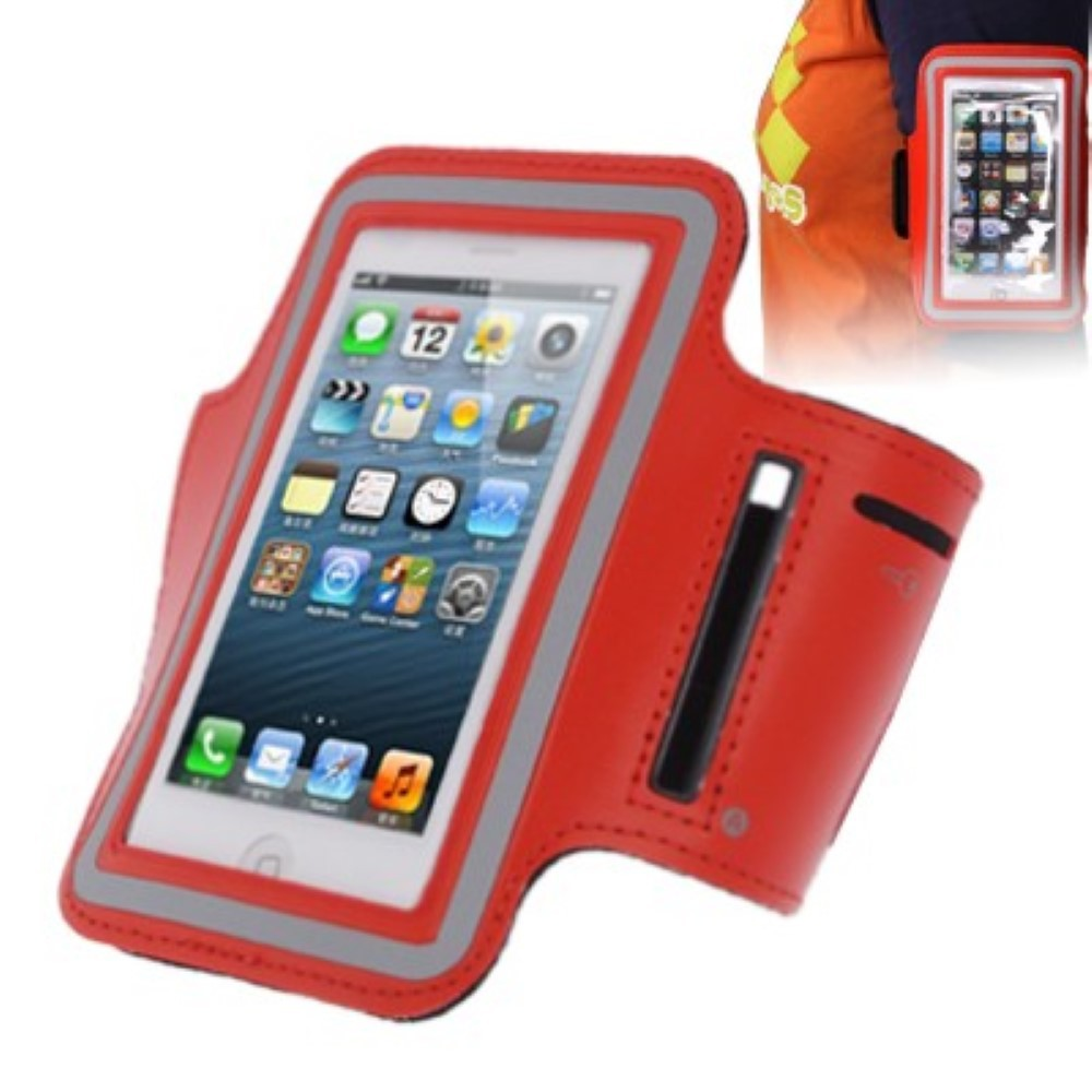 sportarmband tasche f r handy iphone 5 5s 5c rot. Black Bedroom Furniture Sets. Home Design Ideas