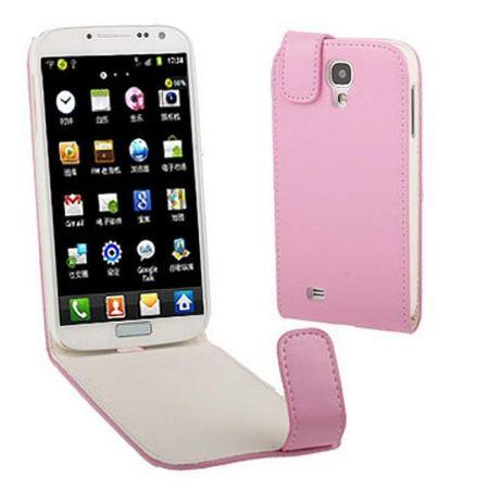 Schutzhülle Flip Tasche für Handy Samsung Galaxy S4 GT-I9500 / GT-I9505 / LTE+ GT-I9506 / Value Edition GT-I9515 rosa
