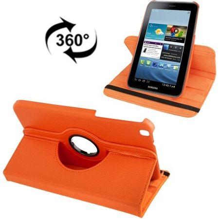 Schutzhülle Handytasche (Flip Quer) für Samsung Galaxy Tab 3 8.0 T3110 T3100 orange