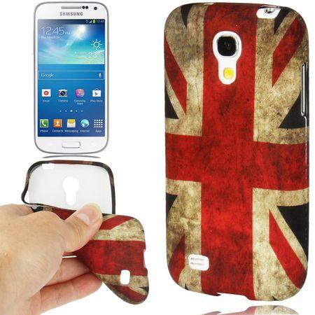 Hülle Retro Flagge TPU Tasche für Samsung Galaxy S4 mini i9190