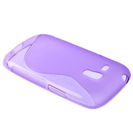 Schutzhülle TPU Case Hülle für Handy Samsung Galaxy S3 mini i8190 / i8195 / i8200 lila – Bild 3