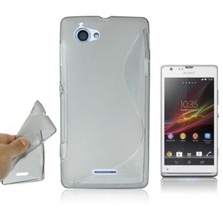 Handyhülle Silikon Case (S-Curve) für Handy Sony Xperia L S36h C210X grau