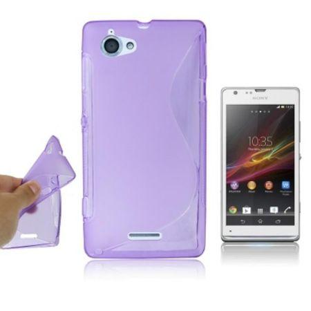 Handyhülle Silikon Case (S-Curve) für Handy Sony Xperia L S36h C210X lila