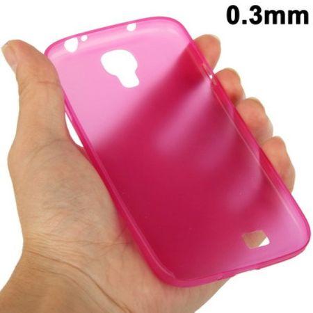 TPU Schutzhülle ultradünn 0,3mm  für Samsung Galaxy S4 GT-I9500 / GT-I9505 / LTE+ GT-I9506 / Value Edition GT-I9515 (pink)