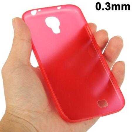 TPU Schutzhülle ultradünn 0,3mm  für Samsung Galaxy S 4 i9500 (rot)