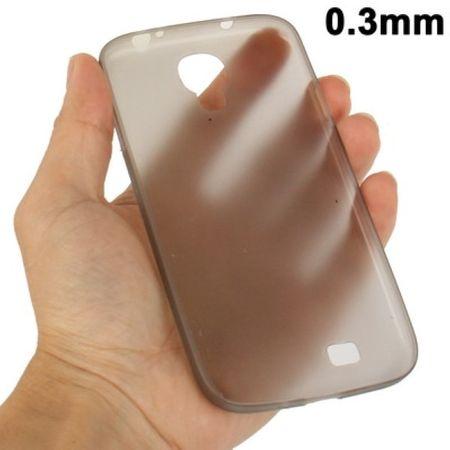 TPU Schutzhülle ultradünn 0,3mm  für Samsung Galaxy S 4 i9500 (grau)